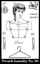 French Laundry Stamp Set 10