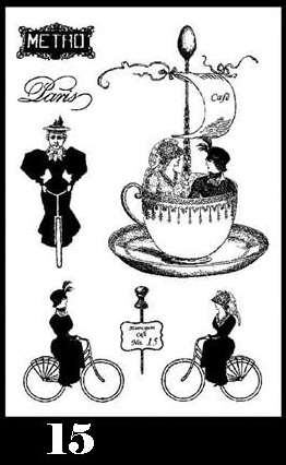 Mannequin Cafe Stamp Set 15 small